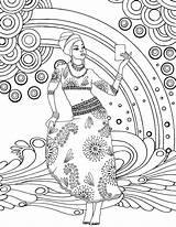 Coloring Goddess African Printable Adult Colouring Sheets Africa Gemstone Doodle Adults Zen Goddesses Para Mwana Colorir Getcolorings Zentangle Arte Adul sketch template
