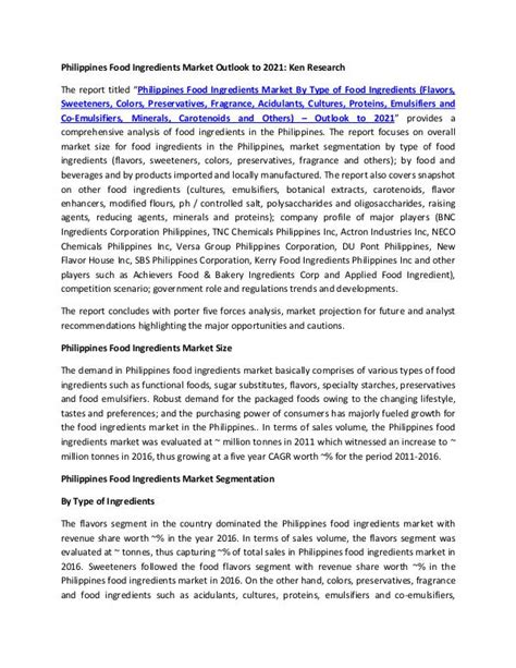 Market Research Reports - Ken Research Barentz Food ...