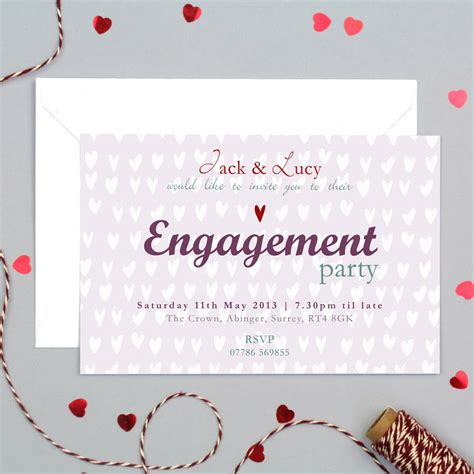 personalised engagement party invitation by molly moo