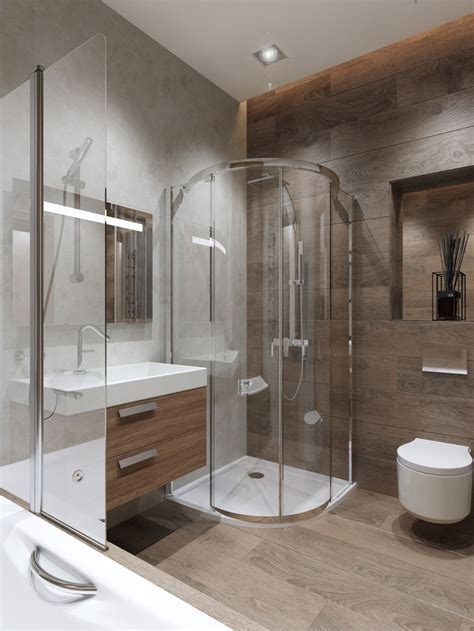 Modern Shower - this stylish en suite bathroom has some fantastic