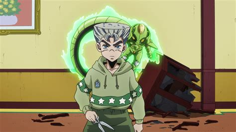 High Quality Anime Jojos Adventure Rohan Kishibe Hair Black Green Wig Image Koichi Hair Png Jojo S