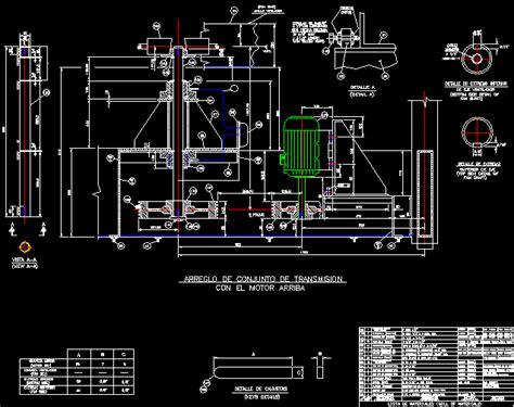 joint transmmision motor  dwg block  autocad
