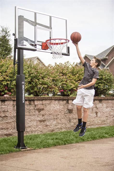 Inground Basketball Hoop Adjustable Outdoor Tempered Glass