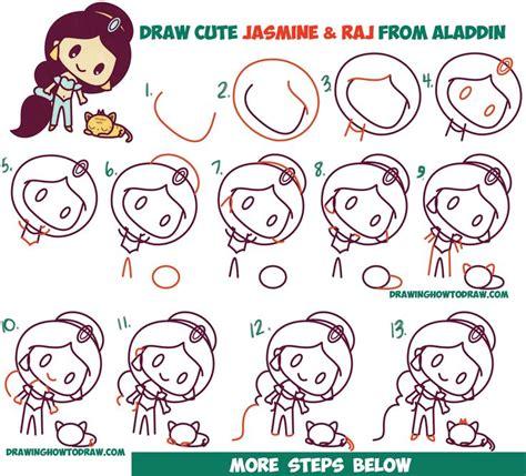 draw cute chibi kawaii jasmine raj  tiger