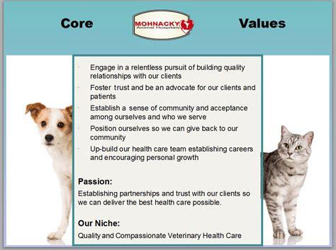 core values mohnacky animal hospitals  escondido