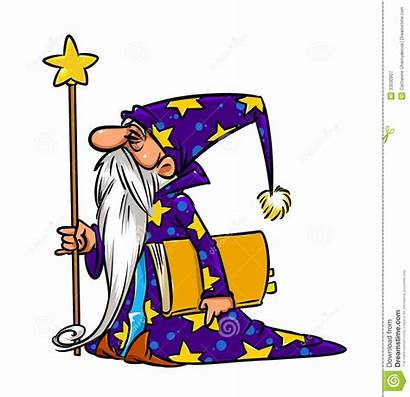 Wizard Magic Magician Cartoon Illustration Clipart Drawing