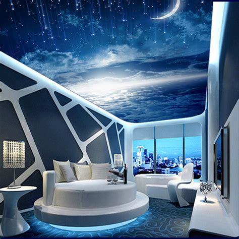 Galaxy Wallpaper For Ceiling by Galaxy Wallpaper 3d View Photo Wallpaper Bedroom Ceiling