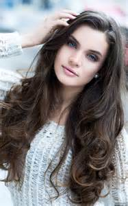 Hairstyles for Long Curly Brown Hair