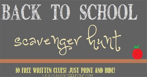 savvy spending   school scavenger hunt   pre