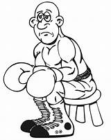 Coloring Boxing Boxer Sad Pages Olympic Clipart Rocky Colouring Face Cliparts Gthe Library Clip Printable Popular Books sketch template
