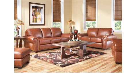 balencia light brown leather  pc living room