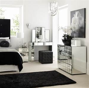 Lush fab glam blogazine home decor go glam with modern for Black silver and white bedroom ideas