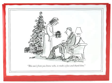 New Yorker Christmas Card   From You Know Who   New Yorker Xmas Cards Funny Humorous Cartoons