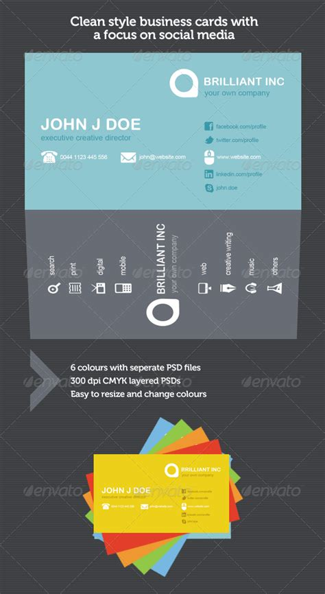 refined clean style business cards  images