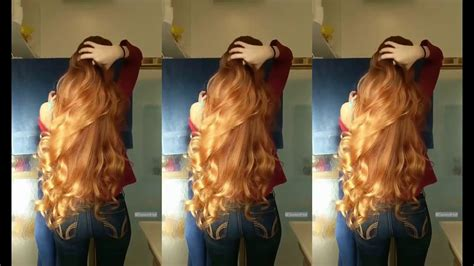 Very long hair the color of wheat beautiful girl YouTube