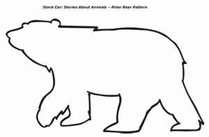 bear template   Polar Bear Pattern - one polar bear on ...