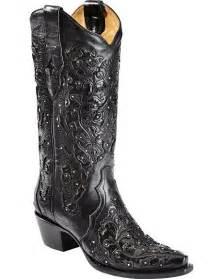 corral black cobra inlay rhinestone cowgirl boots snip