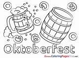 Coloring Oktoberfest Pages Barrel Sheets Sheet Title sketch template
