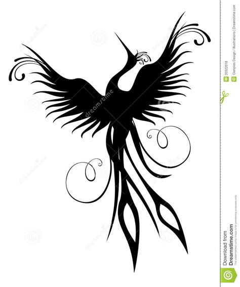 Download free vector of hand drawn vintage phoenix vector bird about phoenix, wings, animal, antique and artwork 2647442. Phoenix Bird Figure Isolated Royalty Free Stock Photos ...