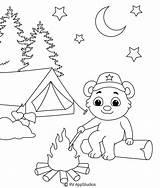Coloring Campfire Printable sketch template