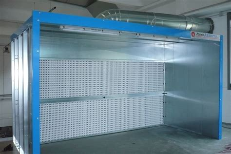 cabine di verniciatura cabina di verniciatura a secco mod cs tecno azzurra