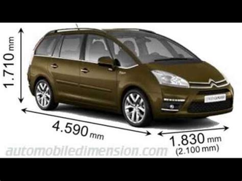 dimension grand c4 picasso citroen c4 grand picasso dimensions