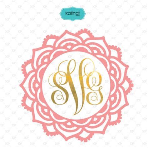 flower monogram frames svg