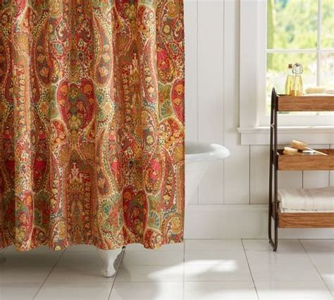 rosalie paisley shower curtain pottery barn asst