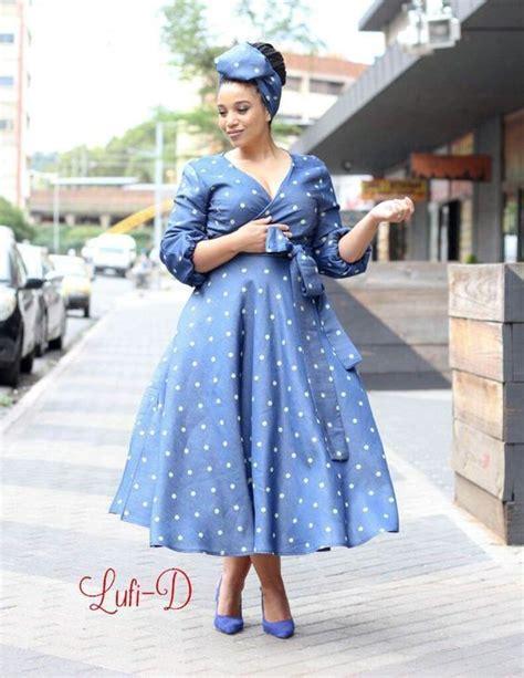 Latest Shweshwe Traditional Dresses 2019 African10