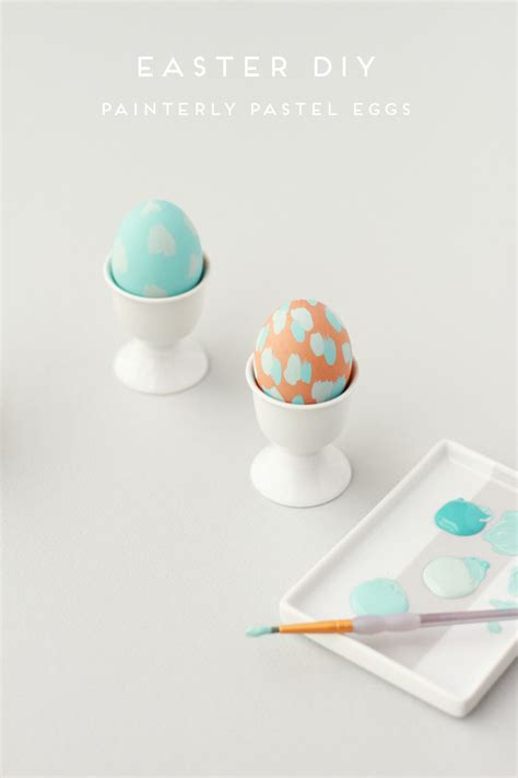 easter diy painterly pastel eggs paper  stitch