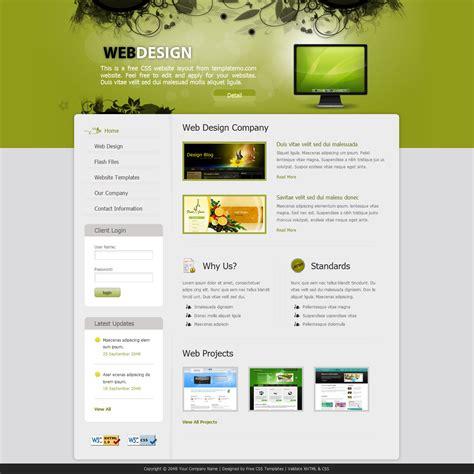free website designer template 243 web design