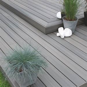 lame de terrasse composite gris aspen fiberon extrem With lame parquet composite