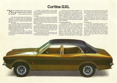 1971 Ford Cortina brochure