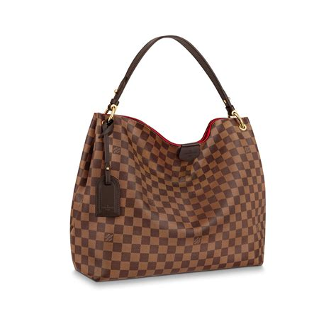 designer handbag  damier canvas graceful mm louis vuitton