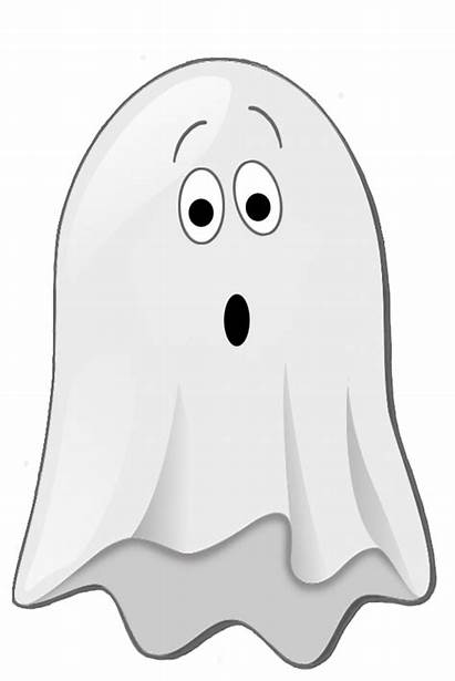 Ghost Halloween Clipart Clip Scared Transparent Happy