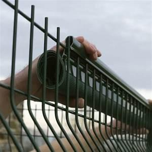 Brise Vue Cloture Rigide : pose d 39 un brise vue sur un grillage de cl ture ~ Edinachiropracticcenter.com Idées de Décoration