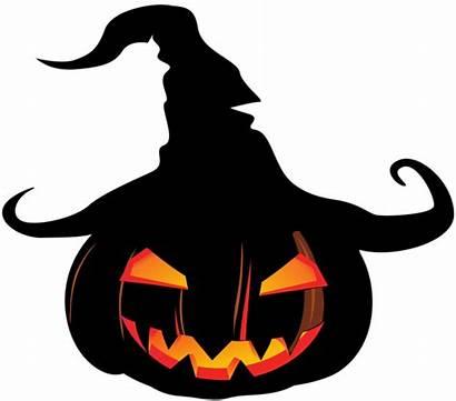 Halloween Pumpkin Scary Clipart Clip Witch Lantern
