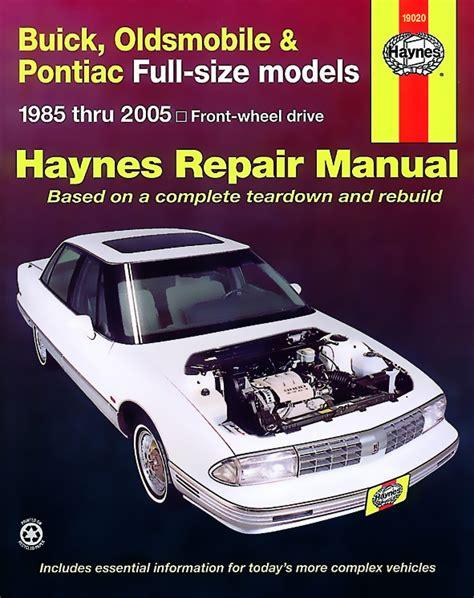 auto manual repair 1996 buick lesabre electronic valve timing 98 haynes manuals