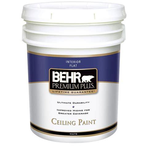 Behr Popcorn Ceiling Paint Behr Premium Plus 5 Gal Flat