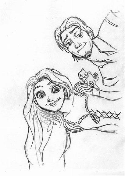 Rapunzel Flynn Pascal Disney Deviantart Da Drawings
