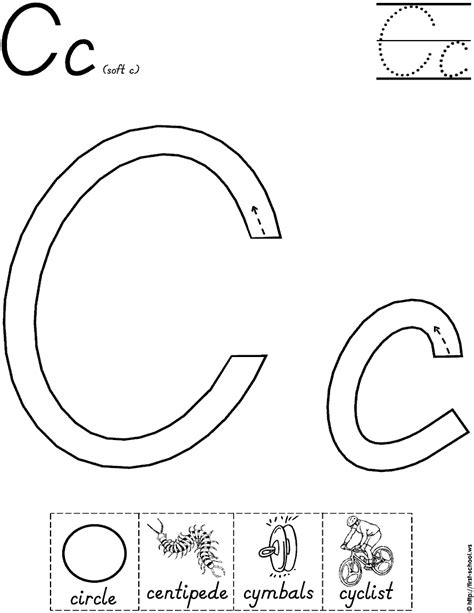letter c worksheet for handwriting intervention school 258 | 34e327b16a5e166f094cc4aa71255214