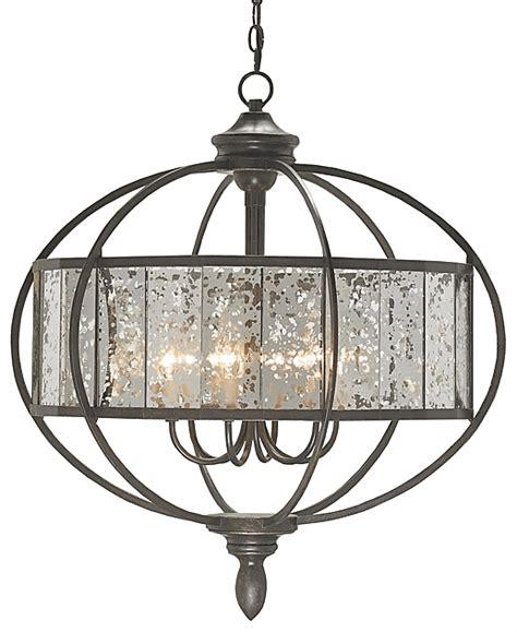 mercury glass chandeliers bronze orb chandelier with mercury glass the designer