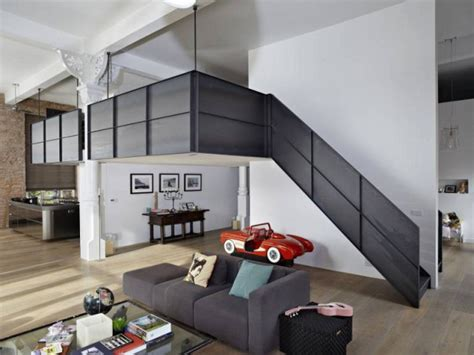 cachee chambre 1 loft combine style industriel et élégance du blanc