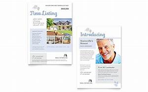Real Estate Listing Flyer Template Free Real Estate Listing Announcement Template Word Publisher