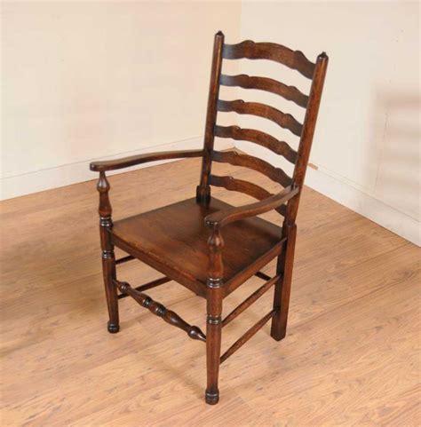 set 8 oak ladderback chairs kitchen dining chair farmhouse