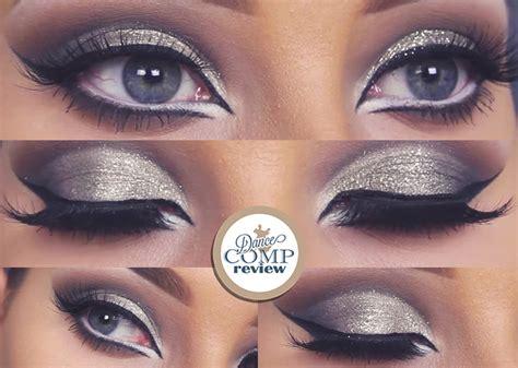 glitter cut crease makeup tutorial dance comp review