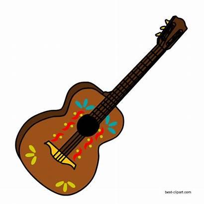 Mexican Clip Guitar Clipart Illustrations Decorated Sombrero