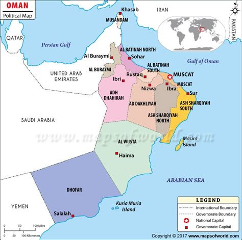 political map  oman great maps pinterest explore