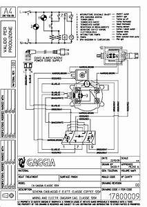 Gaggia Classic Electrical Wiring Diagram Service Manual