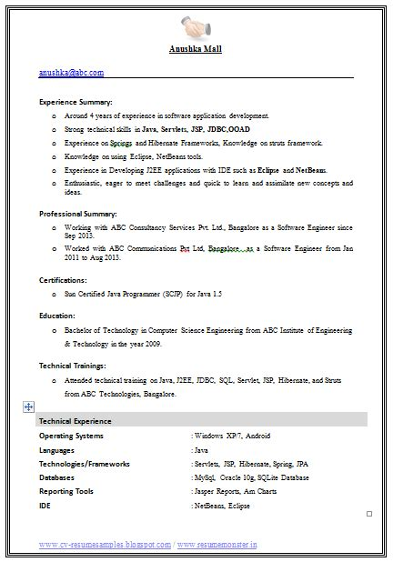 Professional Objective In Cv by Exle Template Of An Excellent Computer Science Engineer